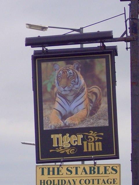 Sign for the Tiger Inn