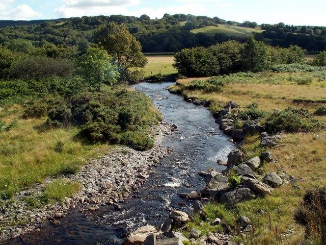 The Afon Teifi looking towards Twyn