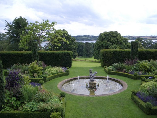 The Garden and View from Hambleton Hall