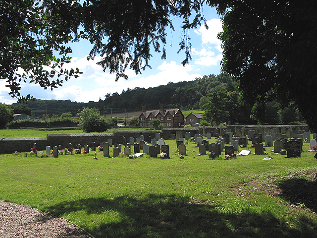 The churchyard at Eastnor