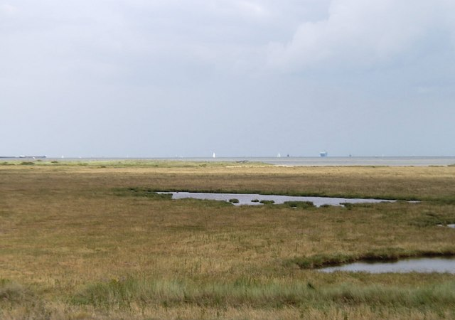 Marshland south of Harwich