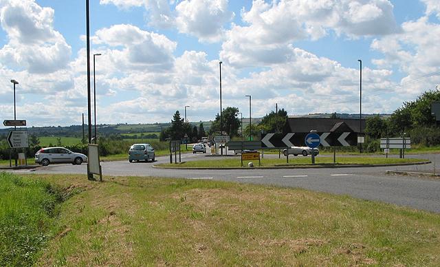 Preston Cross roundabout