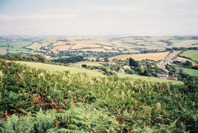 Hardown Hill: view east