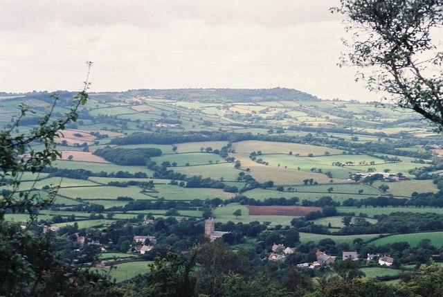 Hardown Hill: view northwest