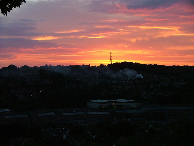 Sunset over Downley