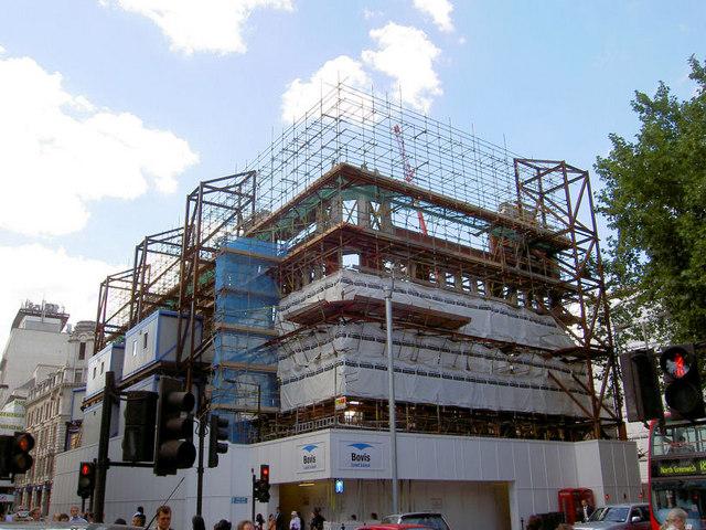 Retaining the facade Southampton Row.