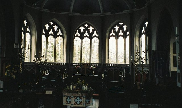 Moreton parish church: interior