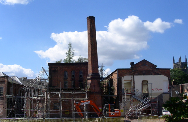 The old pan mill in Royal Worcester's Severn St. site