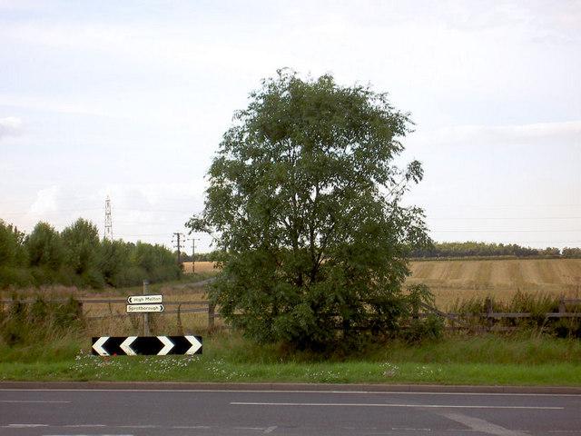 Road junction near High Melton.