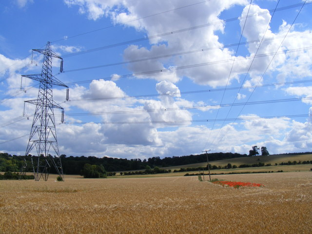 more pylons, poppies and prairie at Temple End
