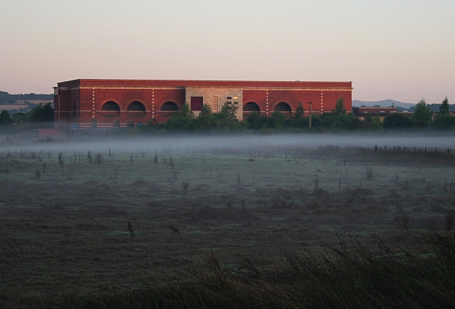The Mythe Water Treatment Works at Dawn