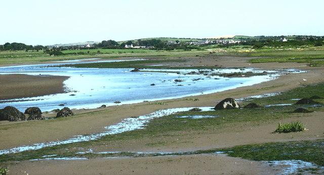 The estuary of Afon Alaw at low tide