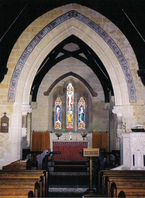 North Poorton parish church: interior