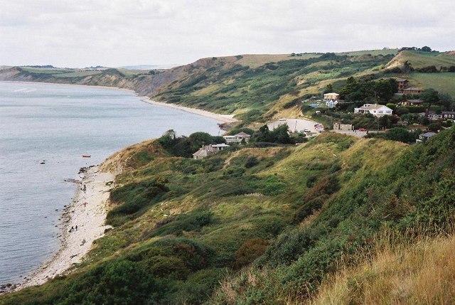 Osmington Mills: beach and cliffs