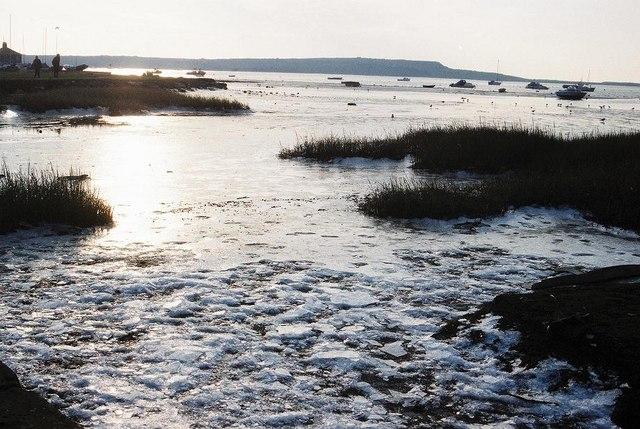 Mudeford: harbour frozen over