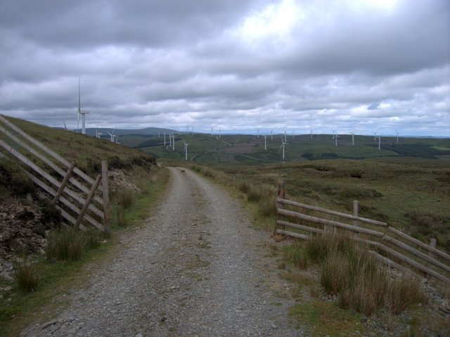 Southern end of Cefn Croes wind power station