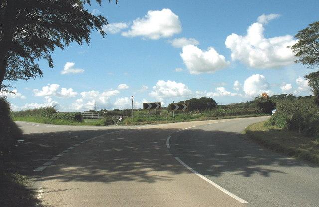 Dangerous junction near Gwyndy