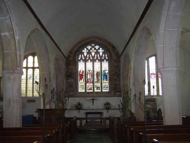 Interior of St. Petrock's Church