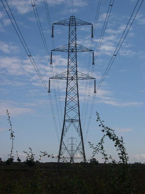 Electricity pylons near Whilton