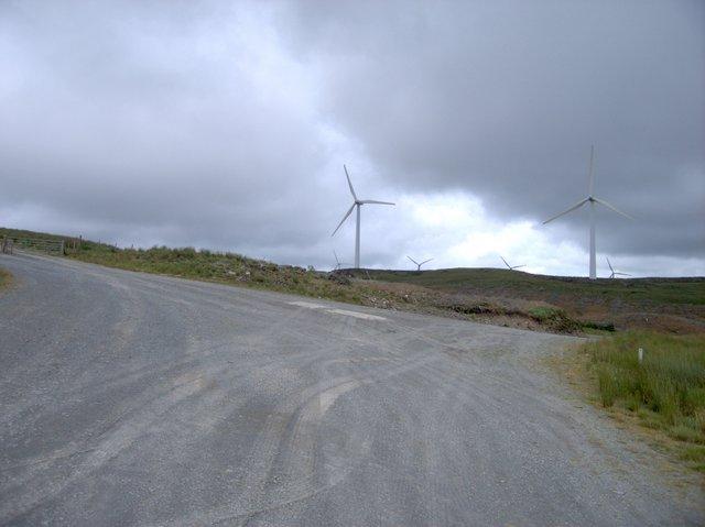 Wind power station maintenance track