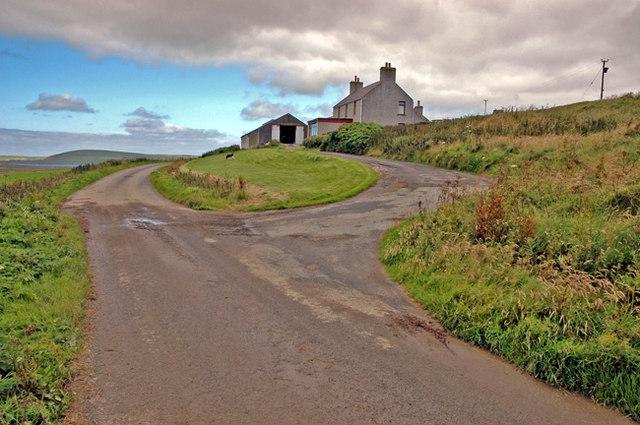 The farm of Howally on the Hillside road, Birsay