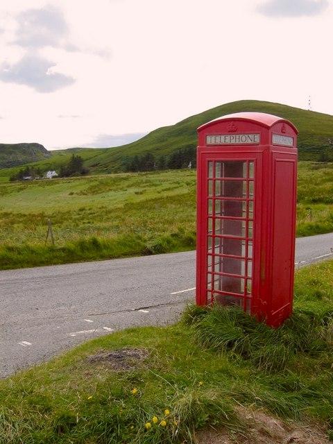 Telephone box near Shulista