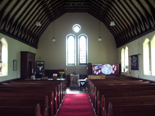 Interior, The Parish Church of St John the Evangelist, Higham