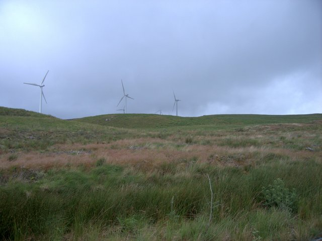 Wind turbines on Cors y Fuwch