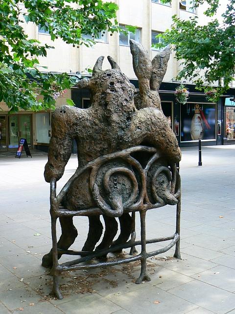 Hare and Minotaur rear view, Promenade, Cheltenham