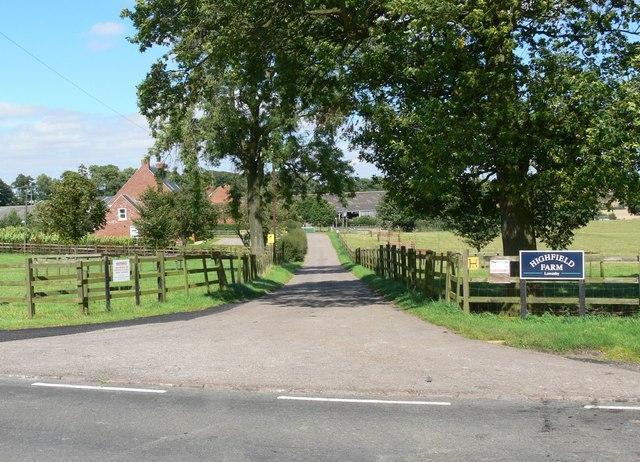 Entrance to Highfield Farm
