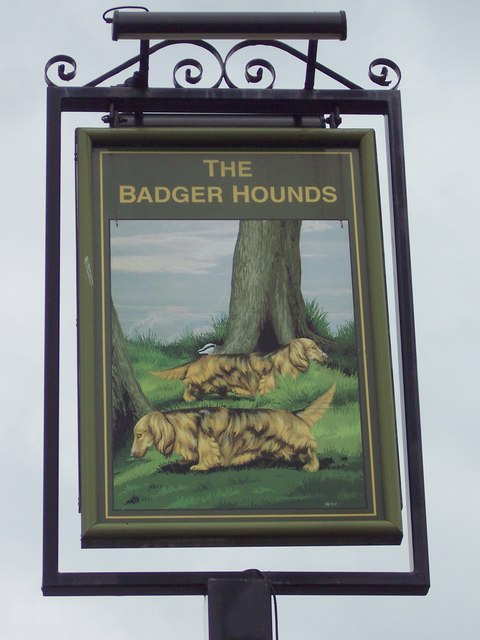 Sign for the Badger Hounds