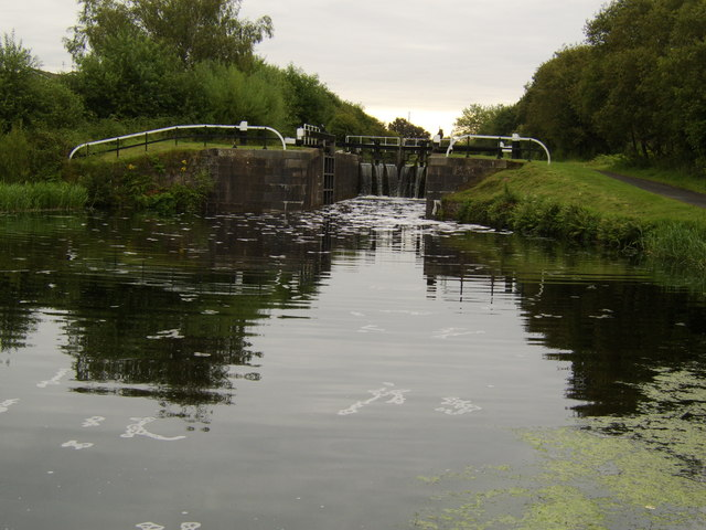 Lock gate on Forth and Clyde Canal