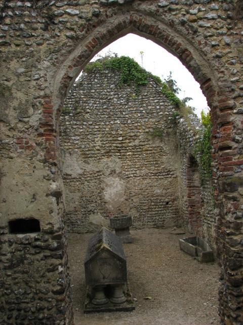 The ruin of St Mary's chapel, Mannington Hall