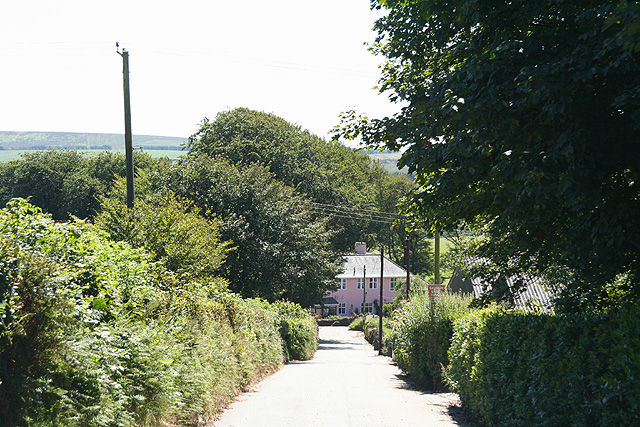 Exmoor: lane to Honeymead Farm
