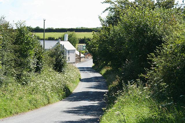 North Molton: towards Yarde Gate Farm