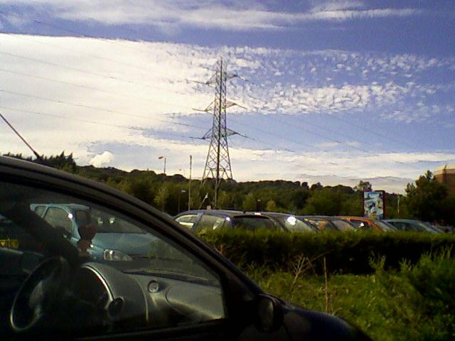 Pylon next to Metro Centre