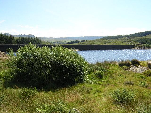 Tanygrisiau reservoir dam