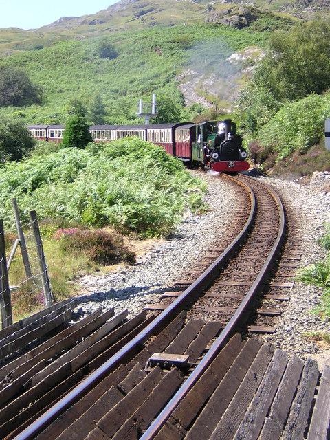Ffestiniog Railway above station