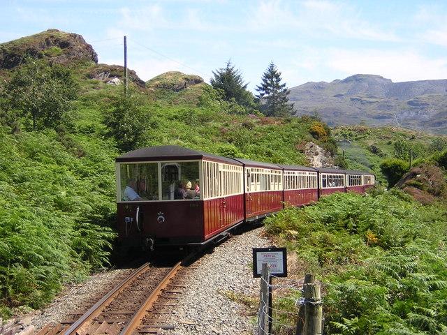 Ffestiniog Railway going towards station