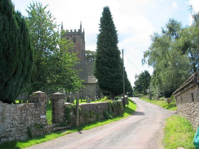 St Briavels church from Church Farm