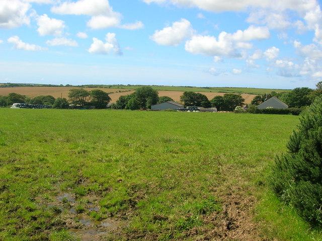 Farmland near Trewilym Farm