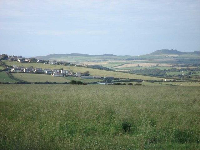 Farmland above Mabws-fawr