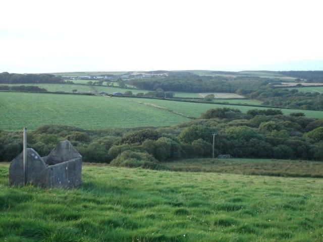 View from Summerhill towards Cuffern