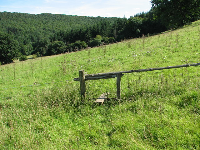 St Briavels - Stile on Slade Bottom footpath