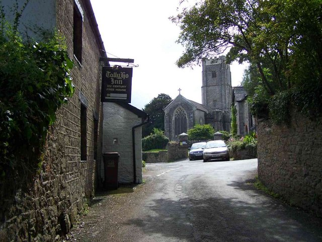 Tally Ho Inn and St. John The Baptist, Littlehempston