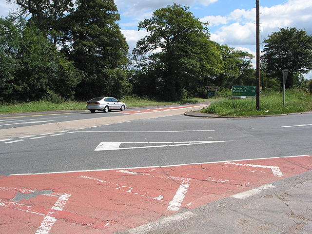 Junction of A49 and A4137
