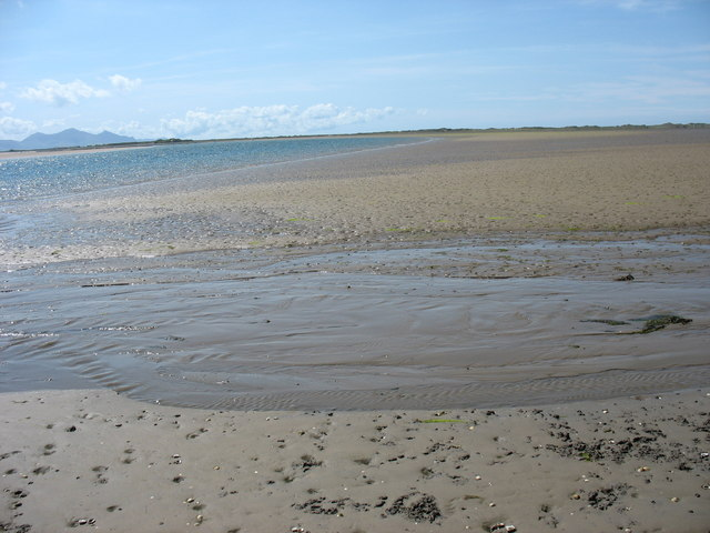 Sand bank at low tide