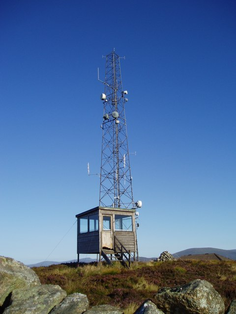 Telecommunications Mast and Fire Lookout Tower on the summit of Benniguinea.