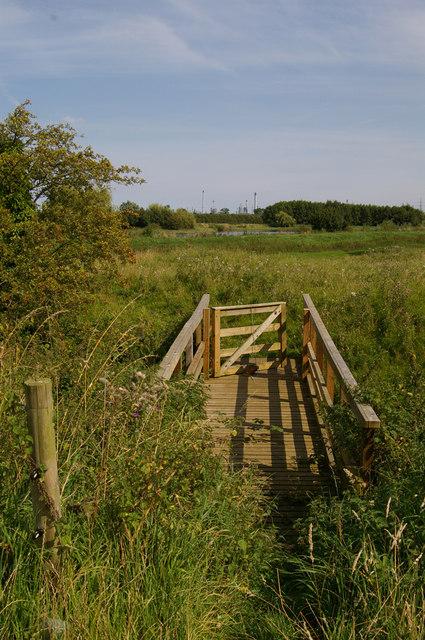 Footbridge over East Halton Beck