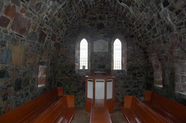 Inside the Church of Scotland on Canna